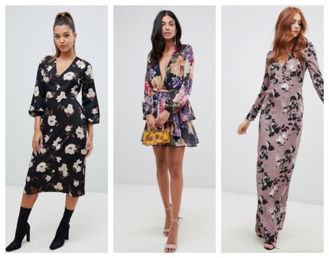 Mini e maxi i vestiti a fiori di moda per l'autunno 2018