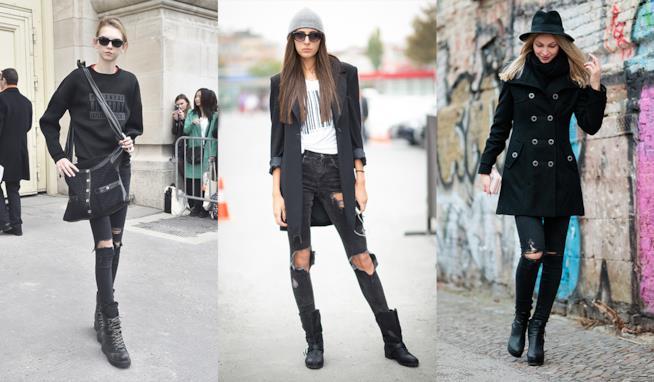 I migliori outfit con i jeans strappati neri