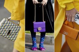 Collage di borse dello street style