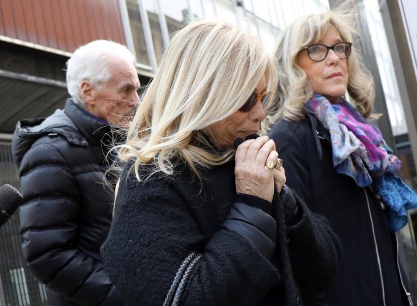 Rita Dalla Chiesa al funerale di Fabrizio Frizzi