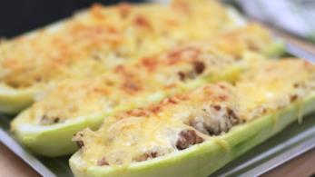 Zucchine ripiene con carne tritata