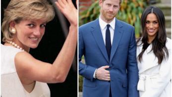 Il Principe Harry e Meghan Markle con Diana