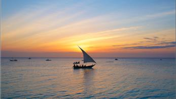 Scorcio di Zanzibar al tramonto