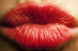 Labbra con rossetto