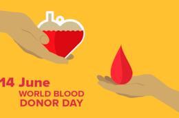 La foto simbolo della Giornata Mondiale del Donatore di Sangue 2018
