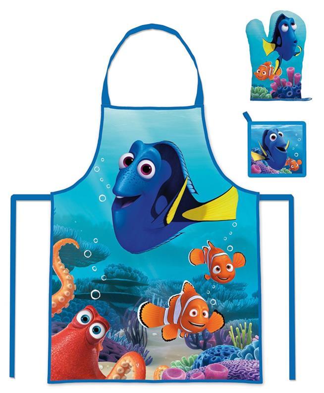 Grembiule, guanto e presina con il motivo di Nemo