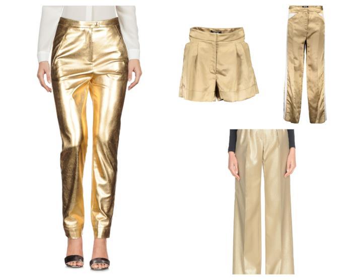 Pantaloni colore oro di tendenza per l'estate 2018