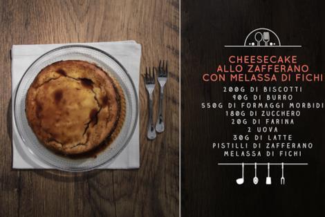 Ingredienti per una cheesecake allo zafferano