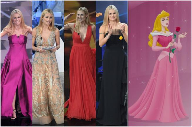 Michelle Hunziker, look seconda serata Sanremo e Aurora