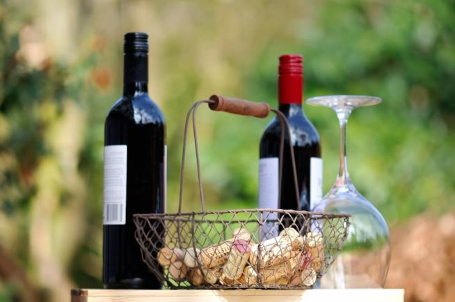 Calice di vino piemontese