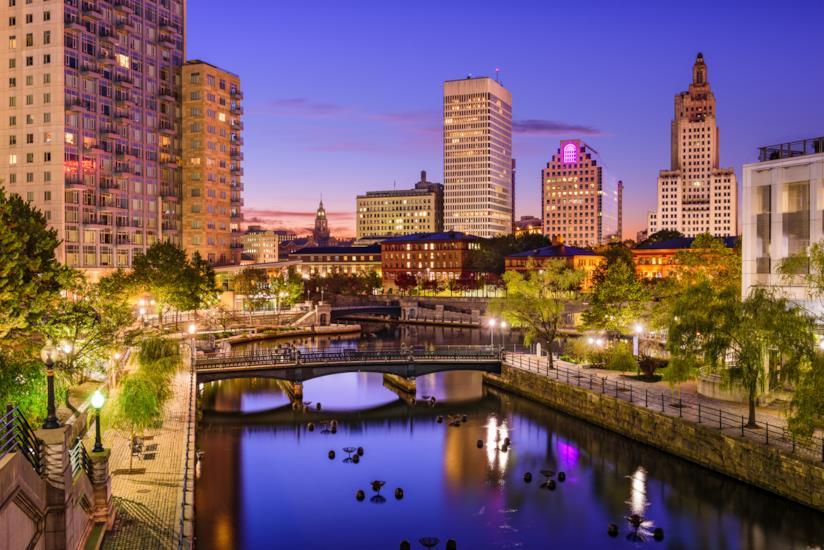 Scorcio del centro di Providence