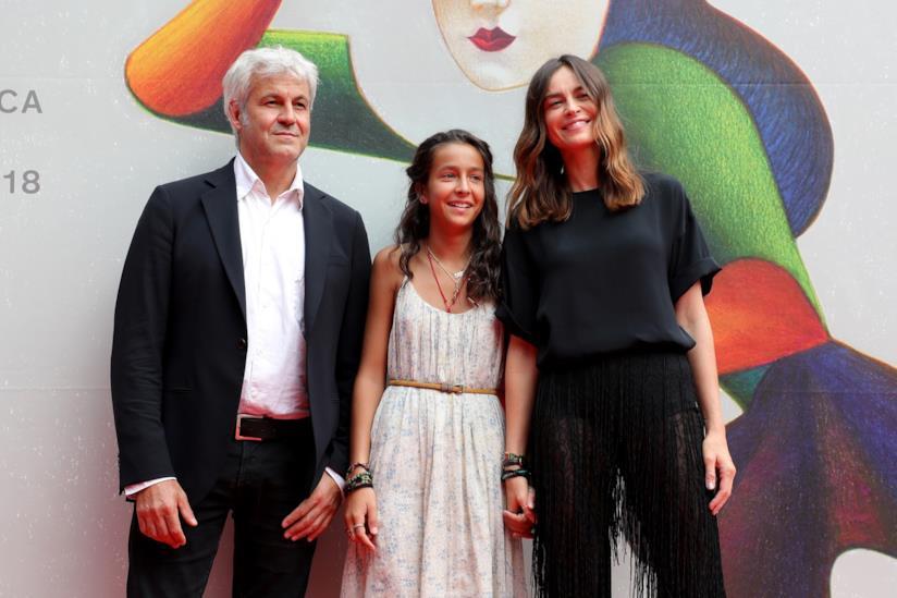 Kasia Smutniak con Sophie Taricone e Domenico Procacci a un evento