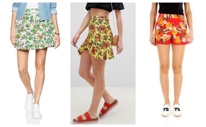 Con le stampe della frutta, le minigonne e gli shorts di tendenza estate 2018