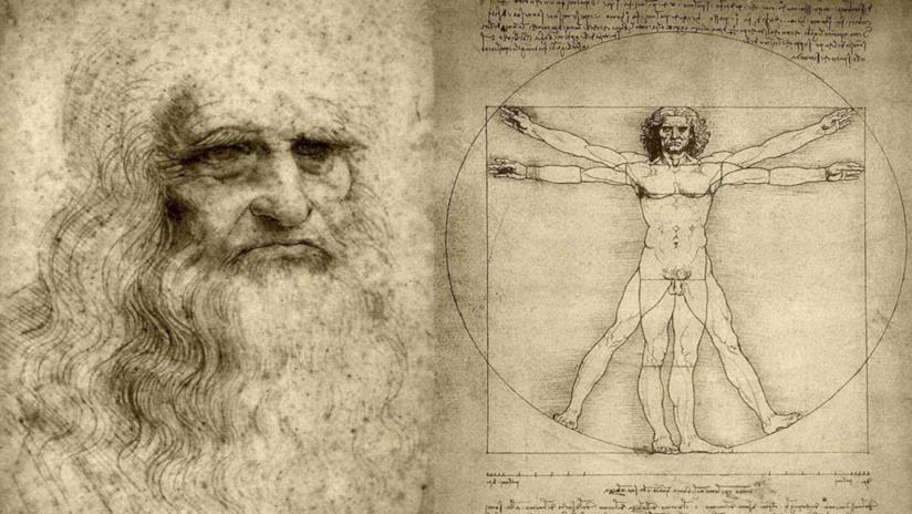 l'uomo Vitruviano di Leonardo da Vinci