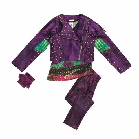 Pantaloni e giacca viola del costume da Mal di Descendants 2