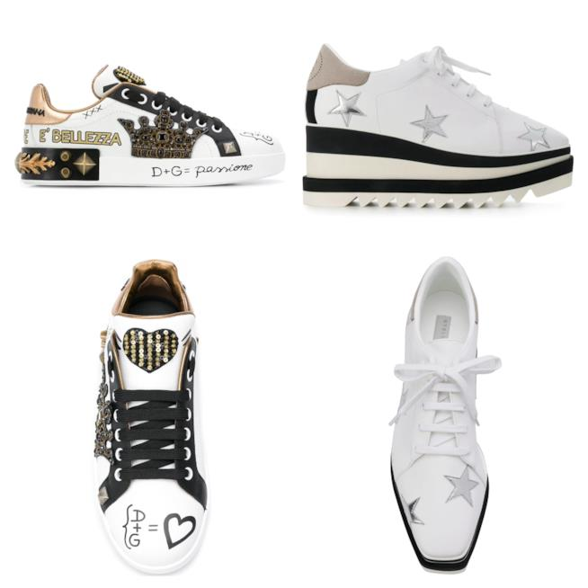 Bianche, le sneakers di moda per l'autunno 2018