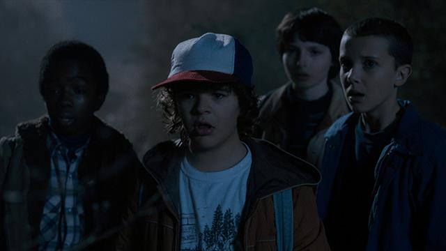 Lucas, Dustin, Mike e Undici