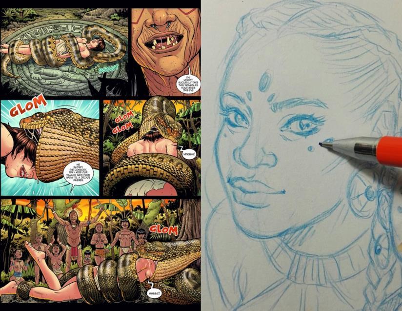 Rosita Amici ha disegnato una storia erotica con Spider-Man in versione hot
