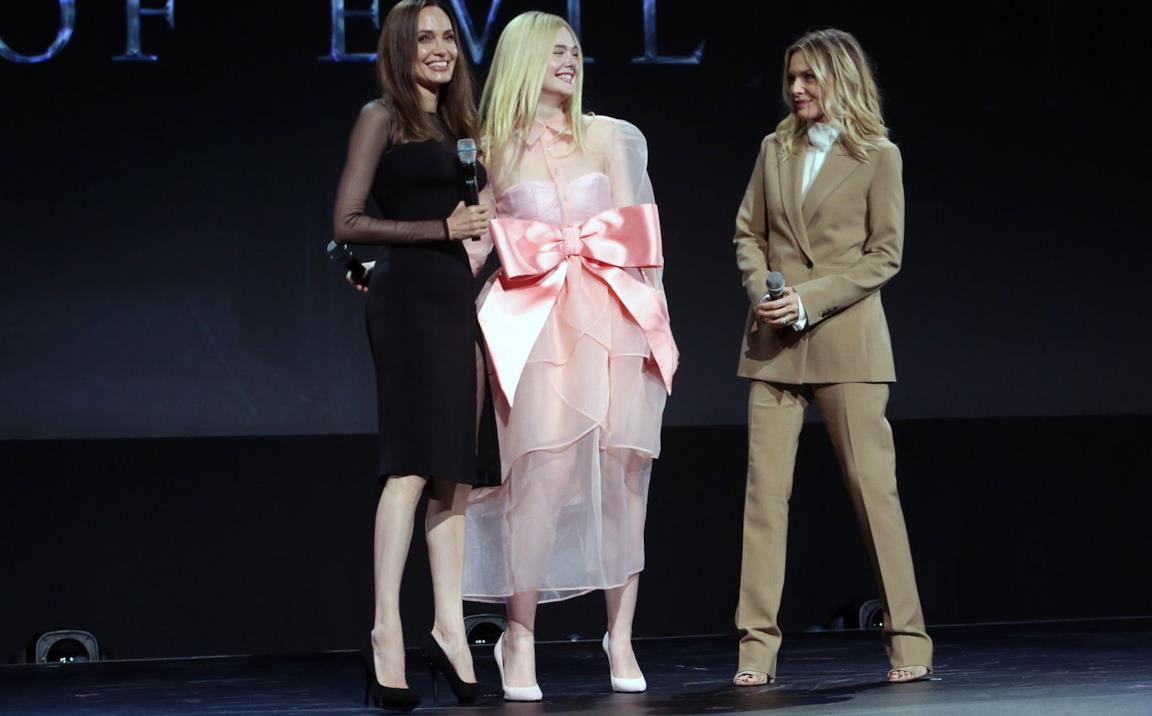 Angelina Jolie, Elle Fanning e Michelle Pfeiffer al D23 Expo