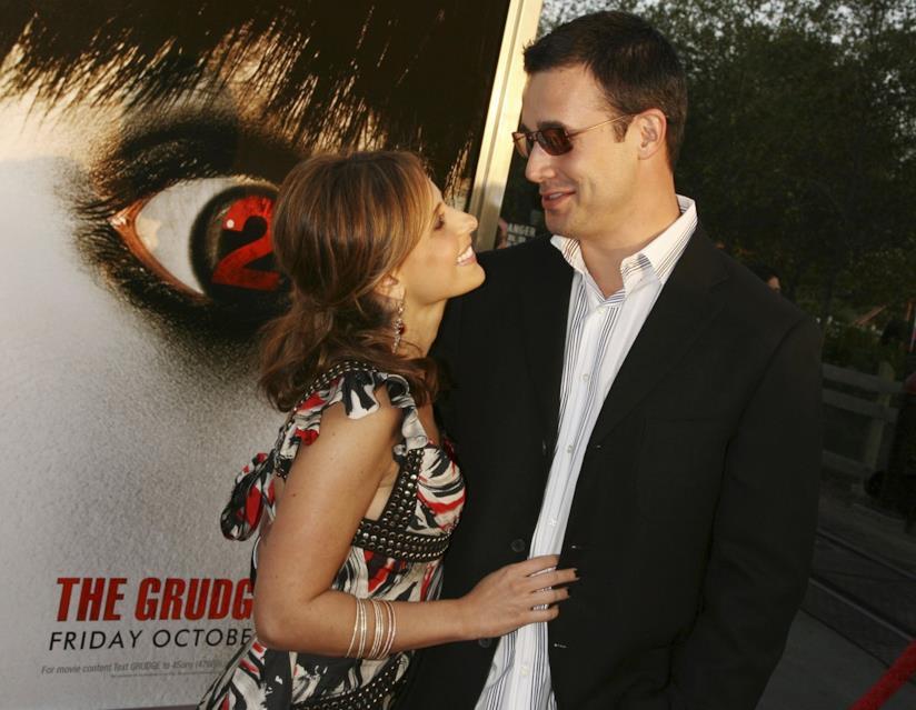 Sarah Michelle Gellar e il marito Freddie Prinze Jr. a una première