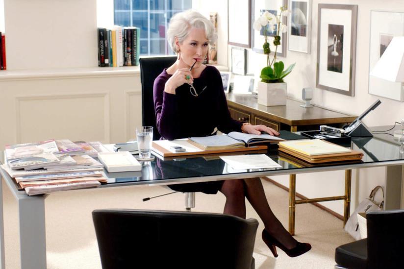 Meryl Streep in una scena de Il diavolo veste Prada