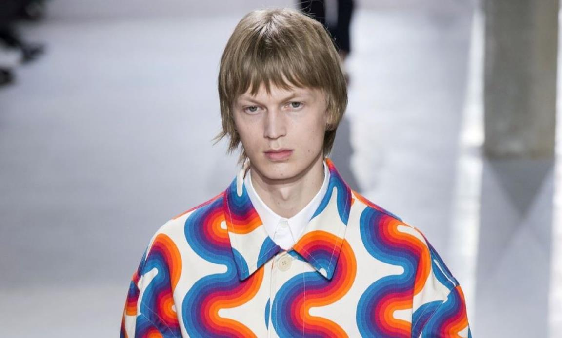 SS19 Dries Van Noten, camicia minimal-psichedelica