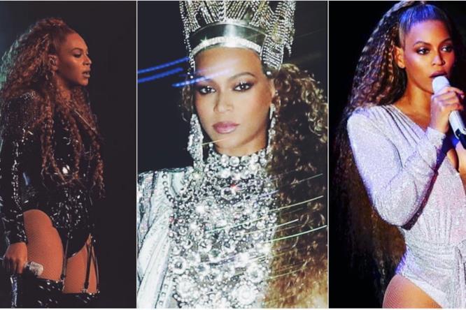 Collage di look di Beyoncé al secondo week-end del Coachella