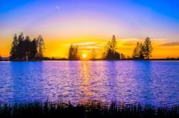 Alba su lago