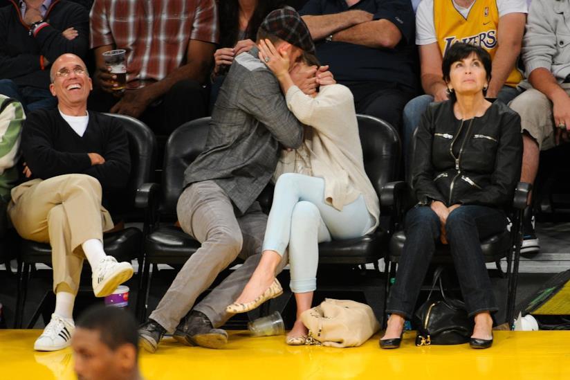 Jessica Biel e Justin Timberlake alla partita dei Lakers
