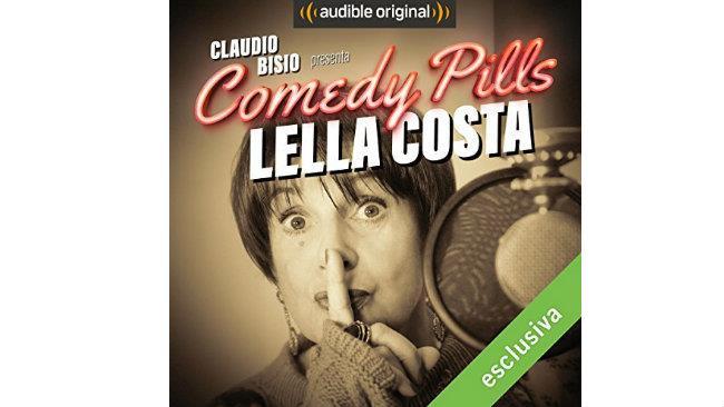 Lella Costa nella copertina di Comedy Pills