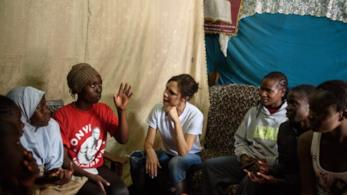 Victoria Beckham in Kenya