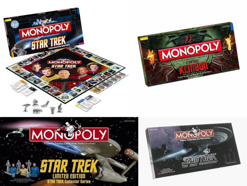 quattro edizioni del Monopoli ispirate a Star Trek