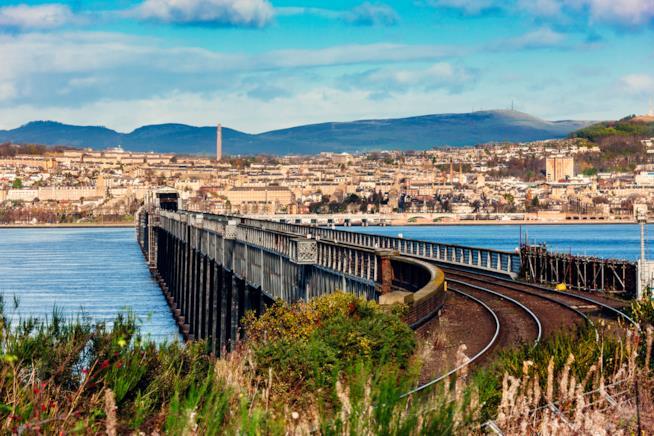Una veduta di Dundee, Scozia.