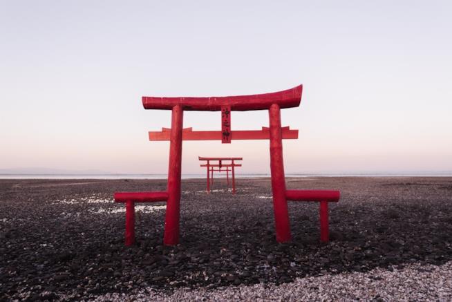 Porta di accesso al santuario nella città di Hiroshima