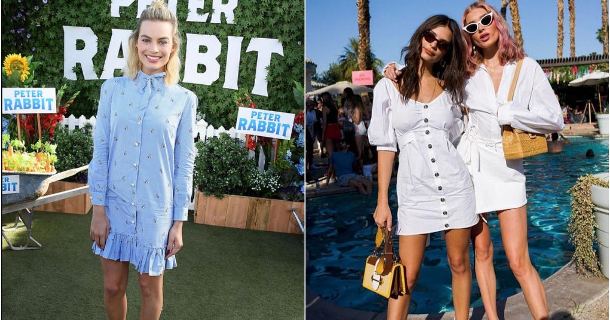 Lo shirt dress o abito chemisier amato da Emily Ratajkowski e Margot Robbie: i modelli da avere