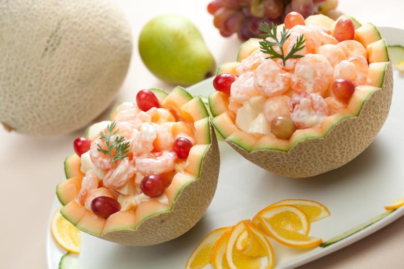 Il melone con i gamberetti rappresenta un ottimo piatto freddo