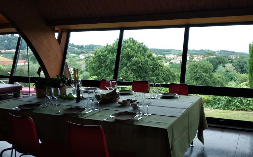 Il panorama dal ristorante del Buonamico Wine Resort