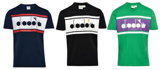 Le magliette della collezione Sportswear di Diadora