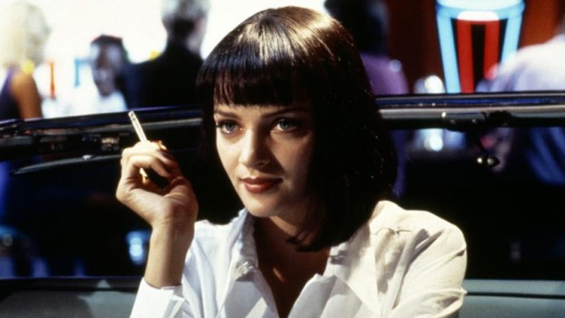 Uma Thurman in una scena di Pulp Fiction