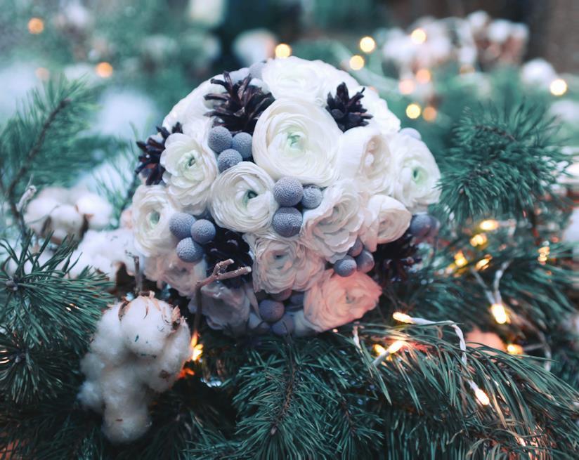 Bouquet per nozze in inverno