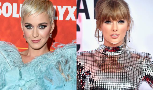 Collage tra Katy Perry e Taylor Swift