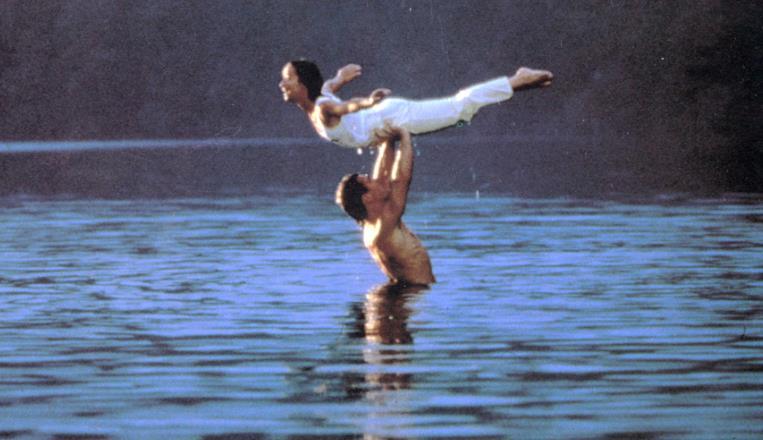 La scena del ballo in acqua in Dirty Dancing