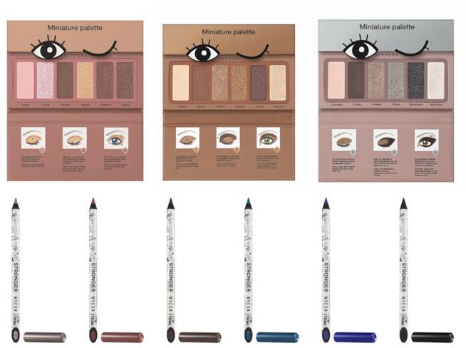 palette ombretti e matite per occhi