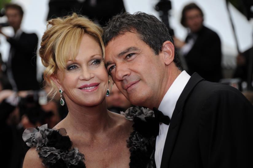 Una splendida immagine di Melanie Griffith e Antonio Banderas