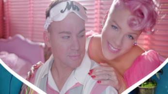 Un primo piano di Pink nel video di Beautiful Trauma