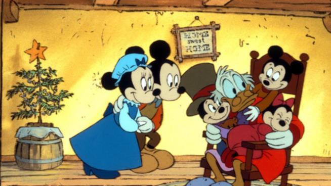 Una immagine tratta dal film d'animazione Disney Il canto di Natale di Topolino