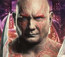 Un primo piano di Drax il distruttore