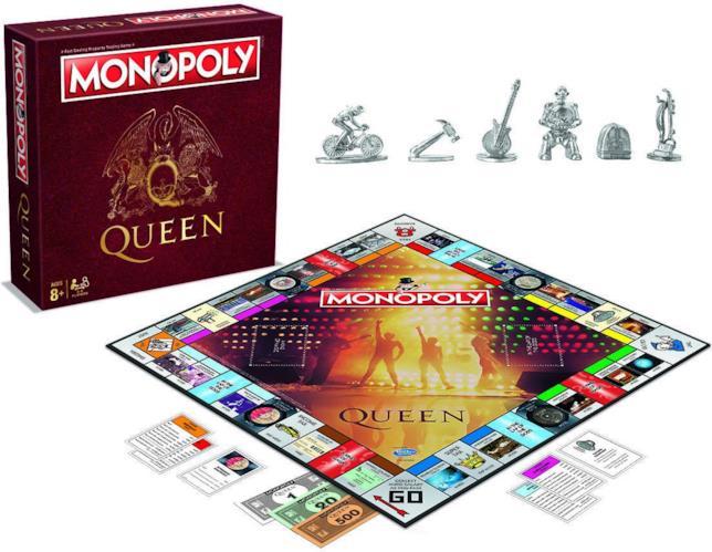 Confenzione e contenuto del gioco da tavolo ispirato ai Queen