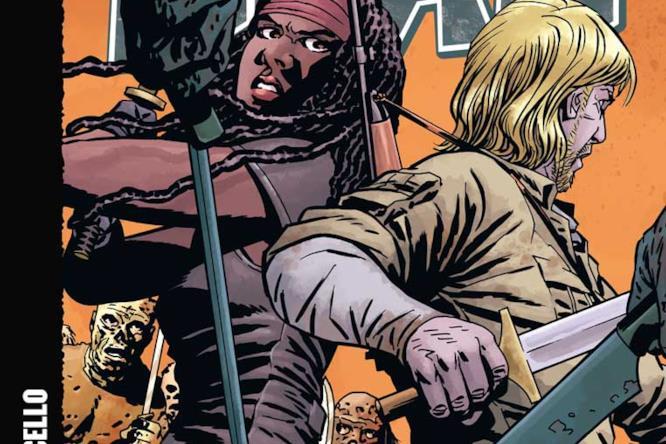 Una delle cover per il cinquantesimo volume di The Walking Dead