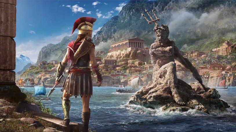 Un concept art promozionale di Assassin's Creed Odyssey